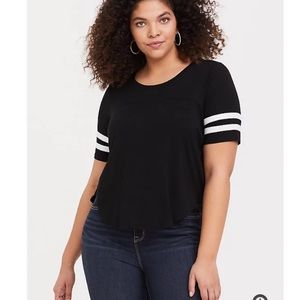 Torrid Cropped Football Tee Shirt Size 2 (2X)